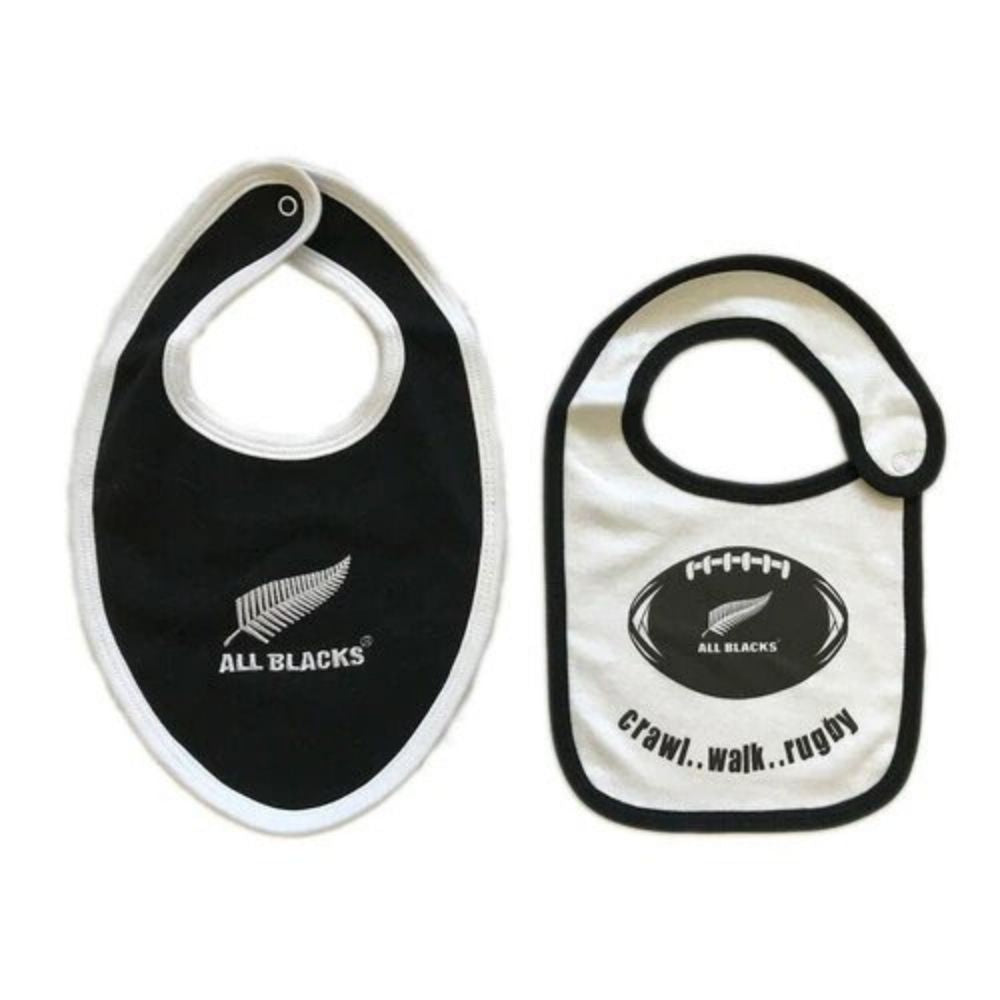 All Blacks 2 Pack Baby Bibs