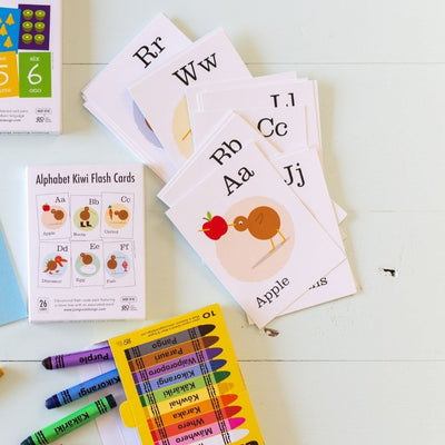 Alphabet Kiwi Flash Cards from funky gifts nz