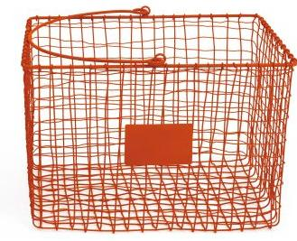 Wire Basket Large Orange