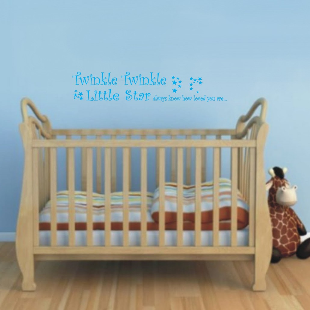 Twinkle Twinkle Kids Medium Wall Sticker Blue