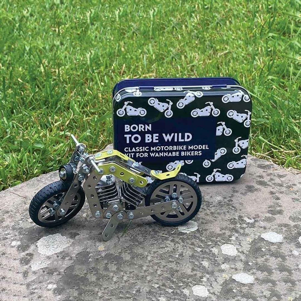born to be wild motorbike model kit from funky gifts nz