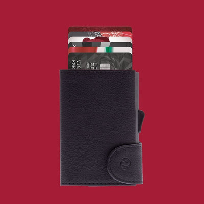 c-secure classic leather wallet with coin black nero from funky gifts nz