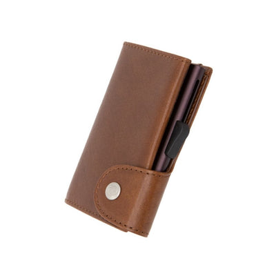 Gun C-Secure Single Wallet Vegetable Tanned Leather from Funky Gifts NZ