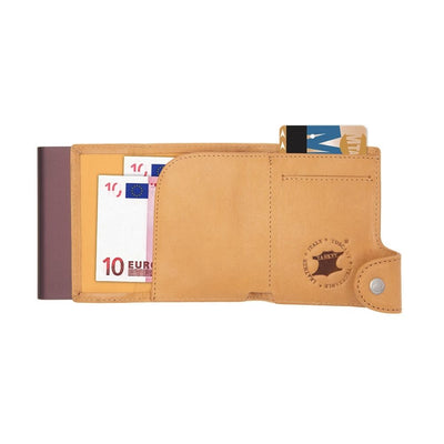 C-Secure Vegetable Tanned Wallet - Single Cardholder
