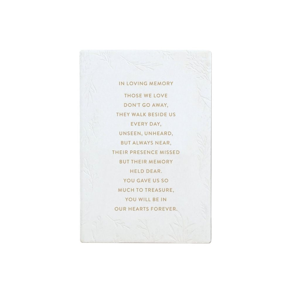 Ceramic Life Verse in loving memory from funky gifts nz