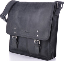 Urban Forest Leather Satchel Bag - Black