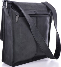 Urban Forest Leather Satchel Bag - Black Back