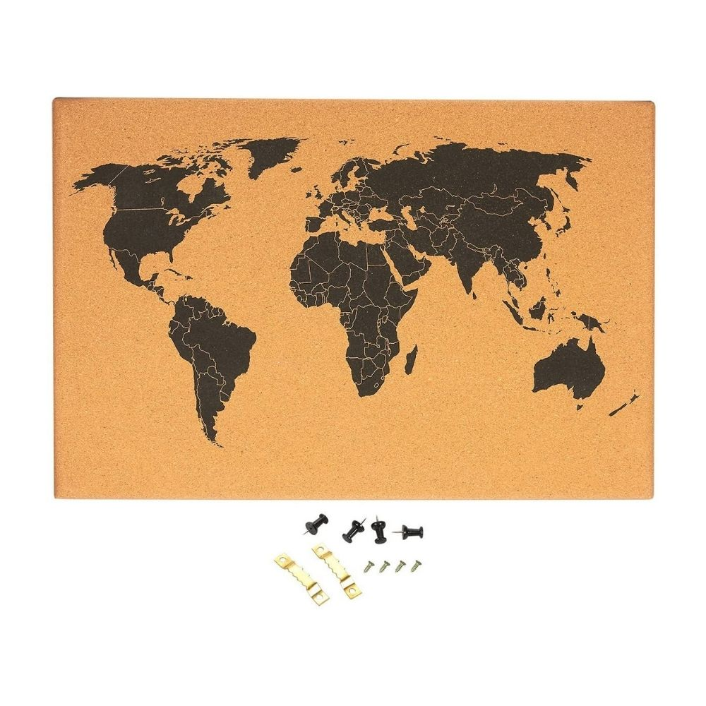 Cork Board Travel Map from funky gifts nz