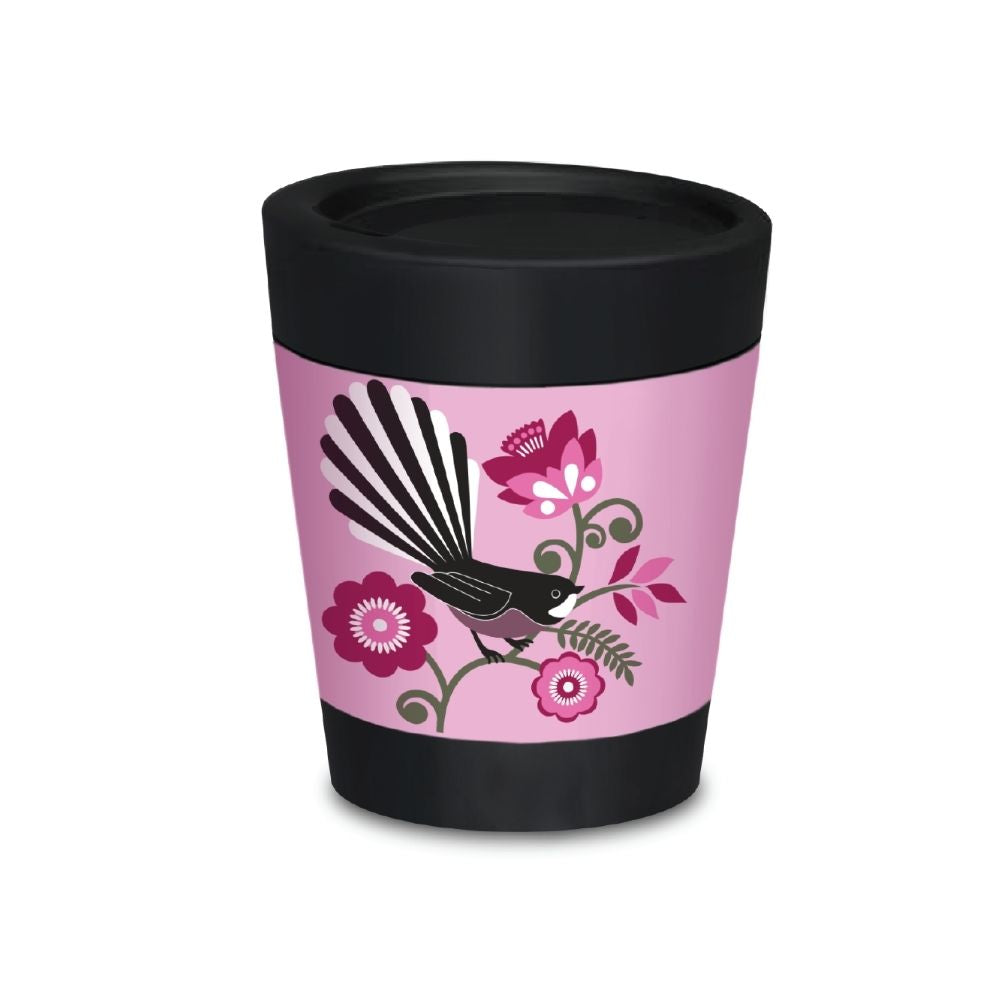 cuppa coffee cup pink fantail 8oz from funky gifts nz
