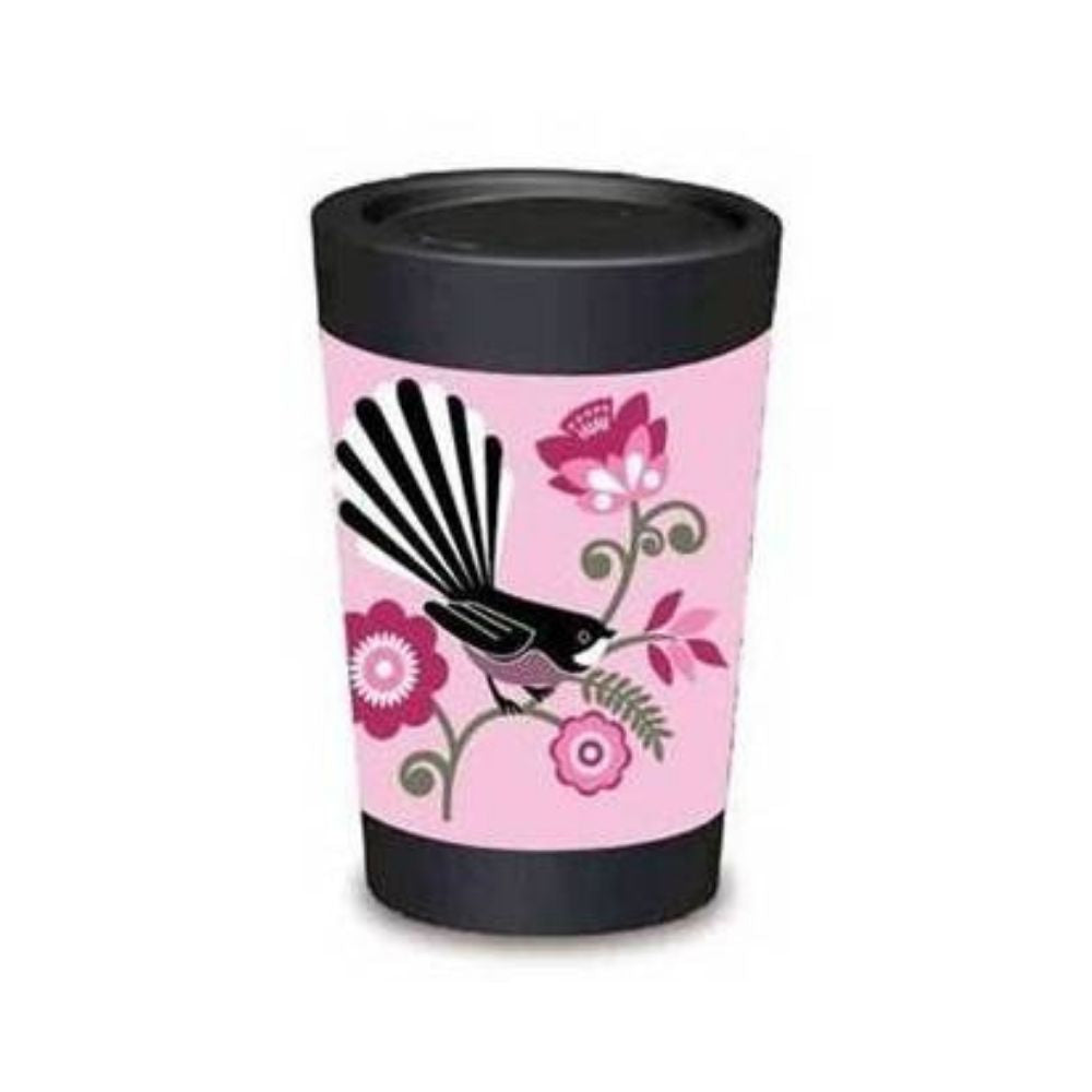 cuppa coffee cup pink fantail 12oz from funyk gifts nz