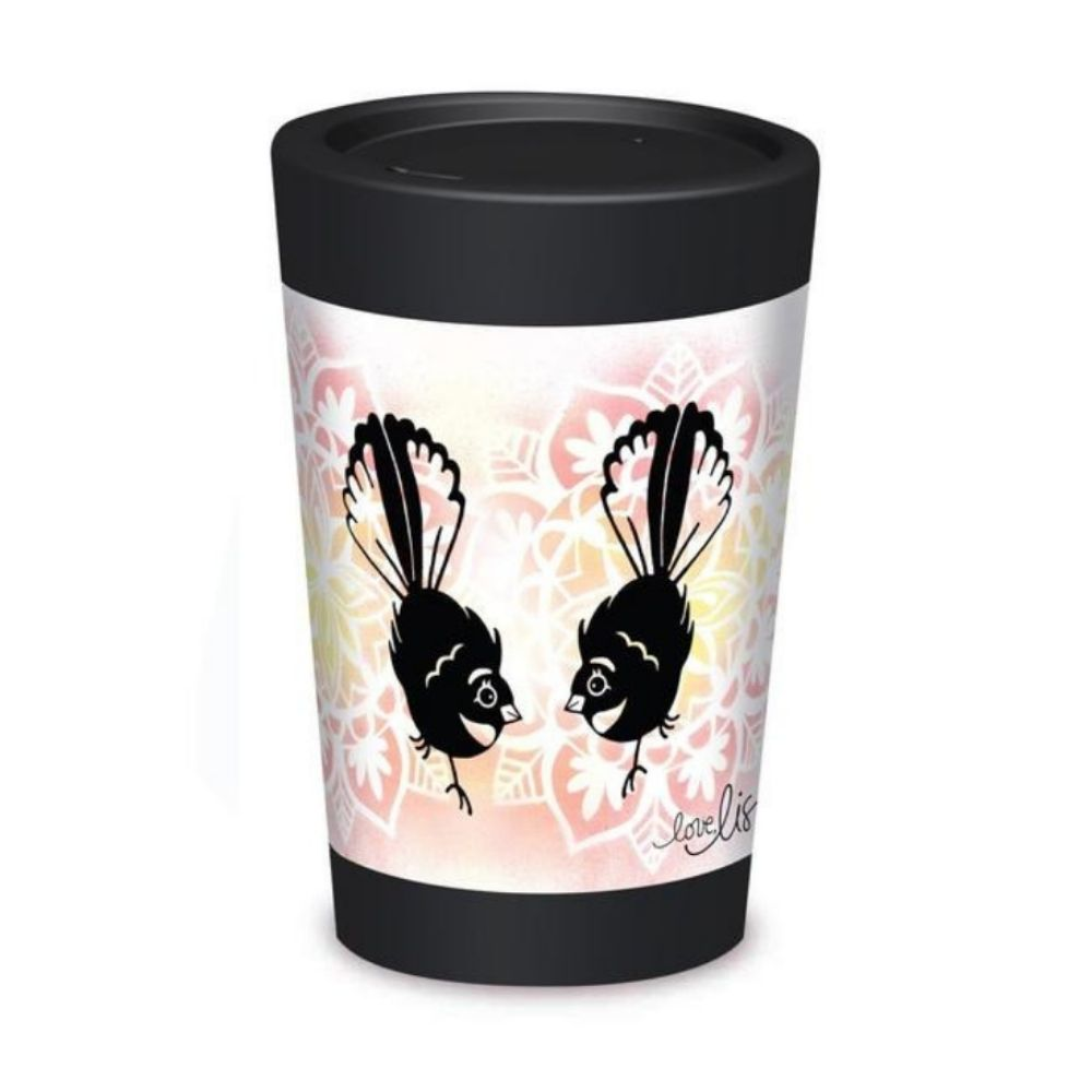 cuppa coffee cup travel mug fantails from funky gifts nz