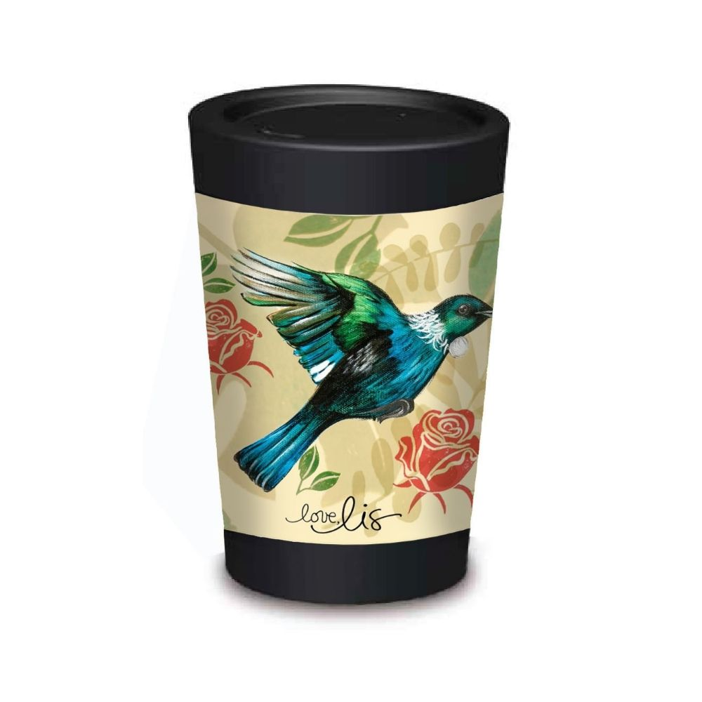 cuppa coffee cup Tui from funky gifts nz