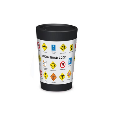 Rugby Road Code Cuppa Coffee Cup from Funky Gifts NZ