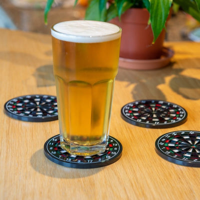 Dartboard Coasters set of 4 Novelty from funky gifts nz