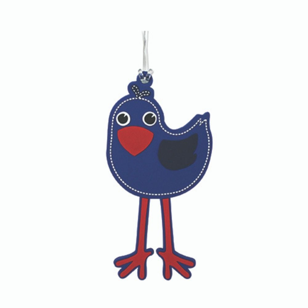 Kids Pukeko Bag Tag from funky gifts nz