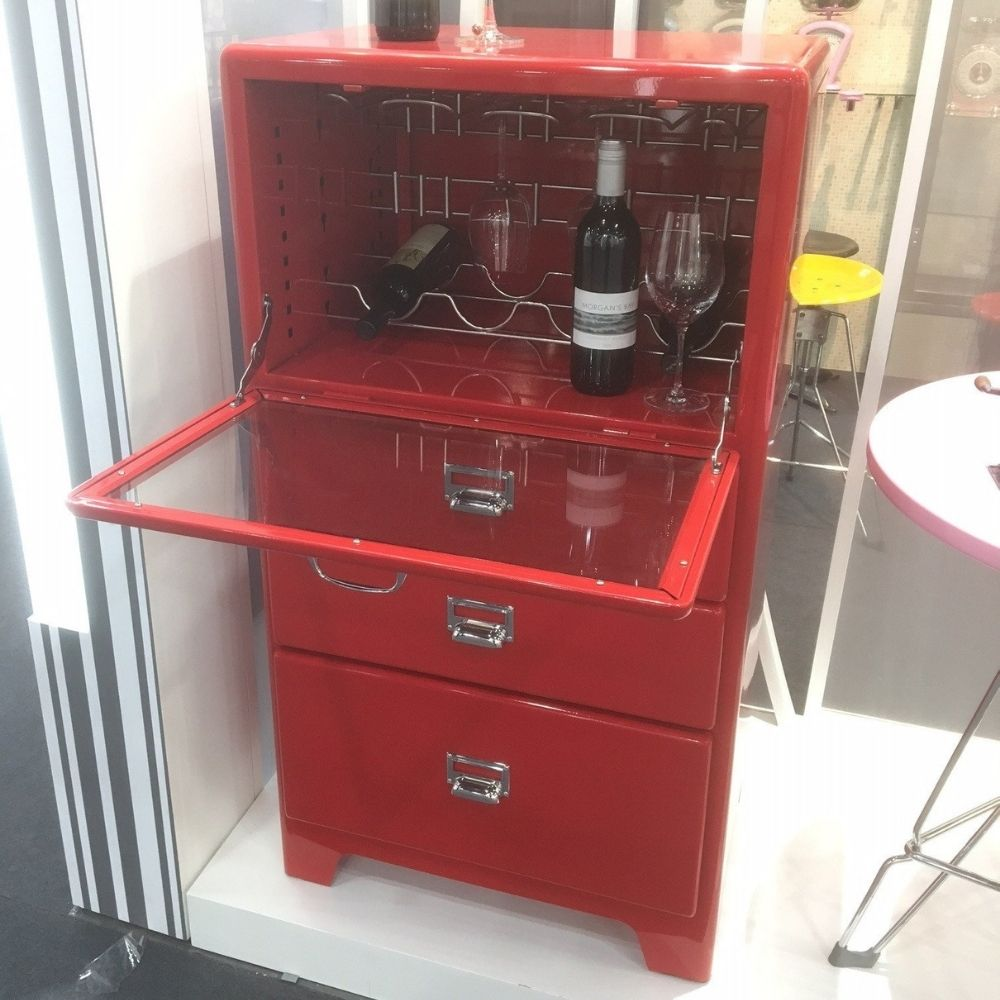 dulton red wine cabinet from funky gifts nz