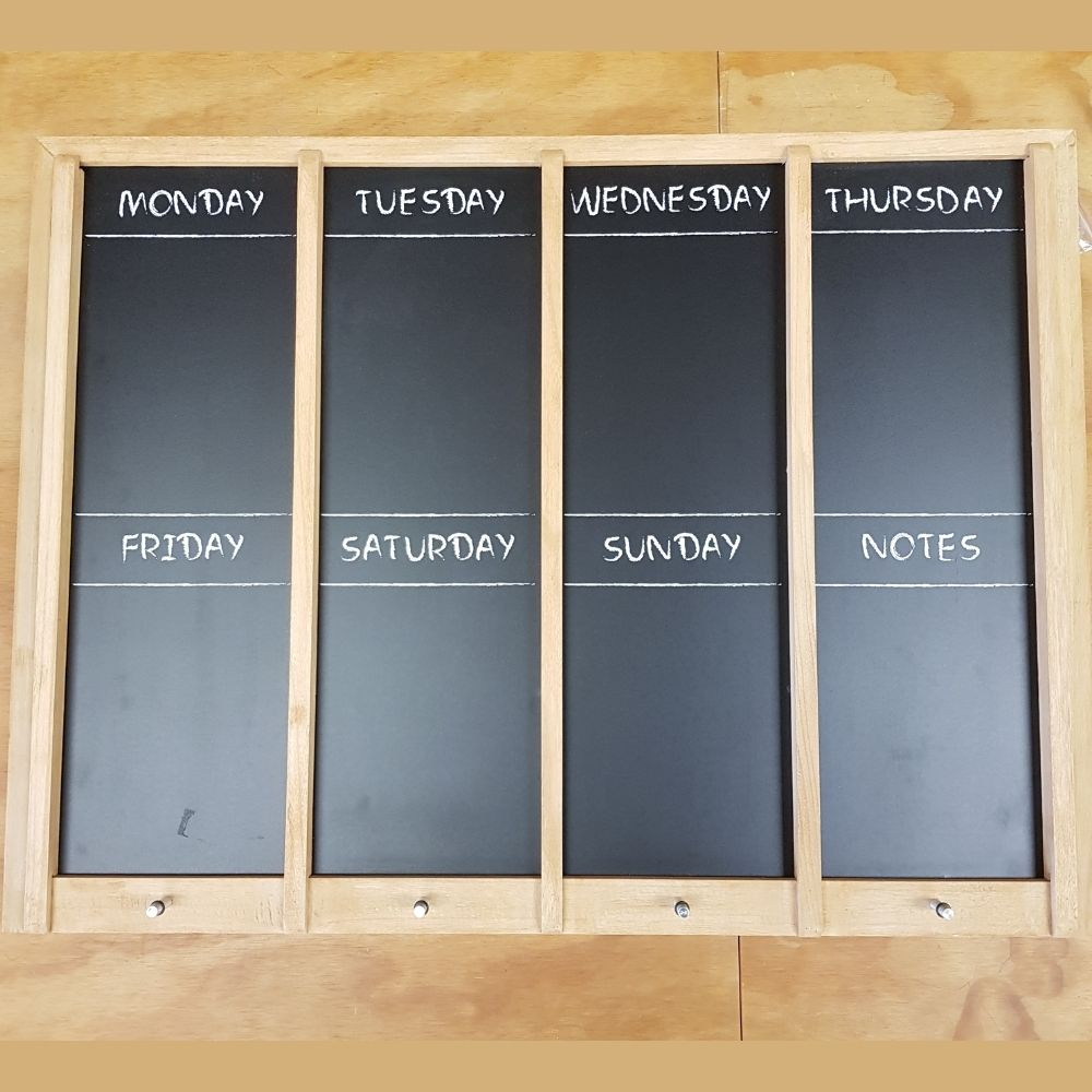 extra large weekly memo chalkboard from funky gifts nz