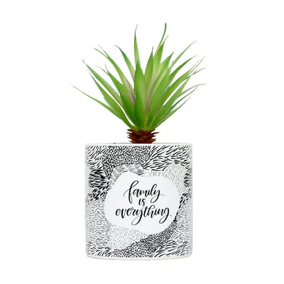 Family is Everything fake pot plant from funky gifts nz