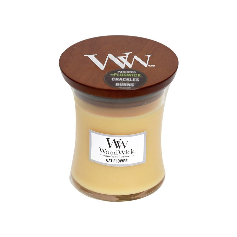 Medium Oat Flower Scented WoodWick Soy Candle