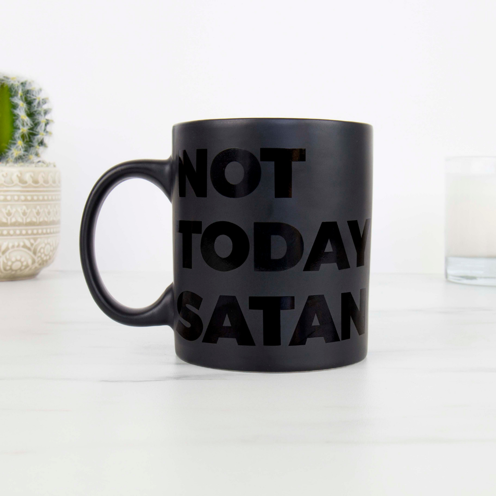 not today satan novelty mug from funky gifts nz