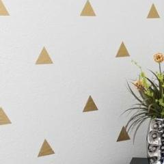 NEW Home Decor Sticker Range - Gold Triangle