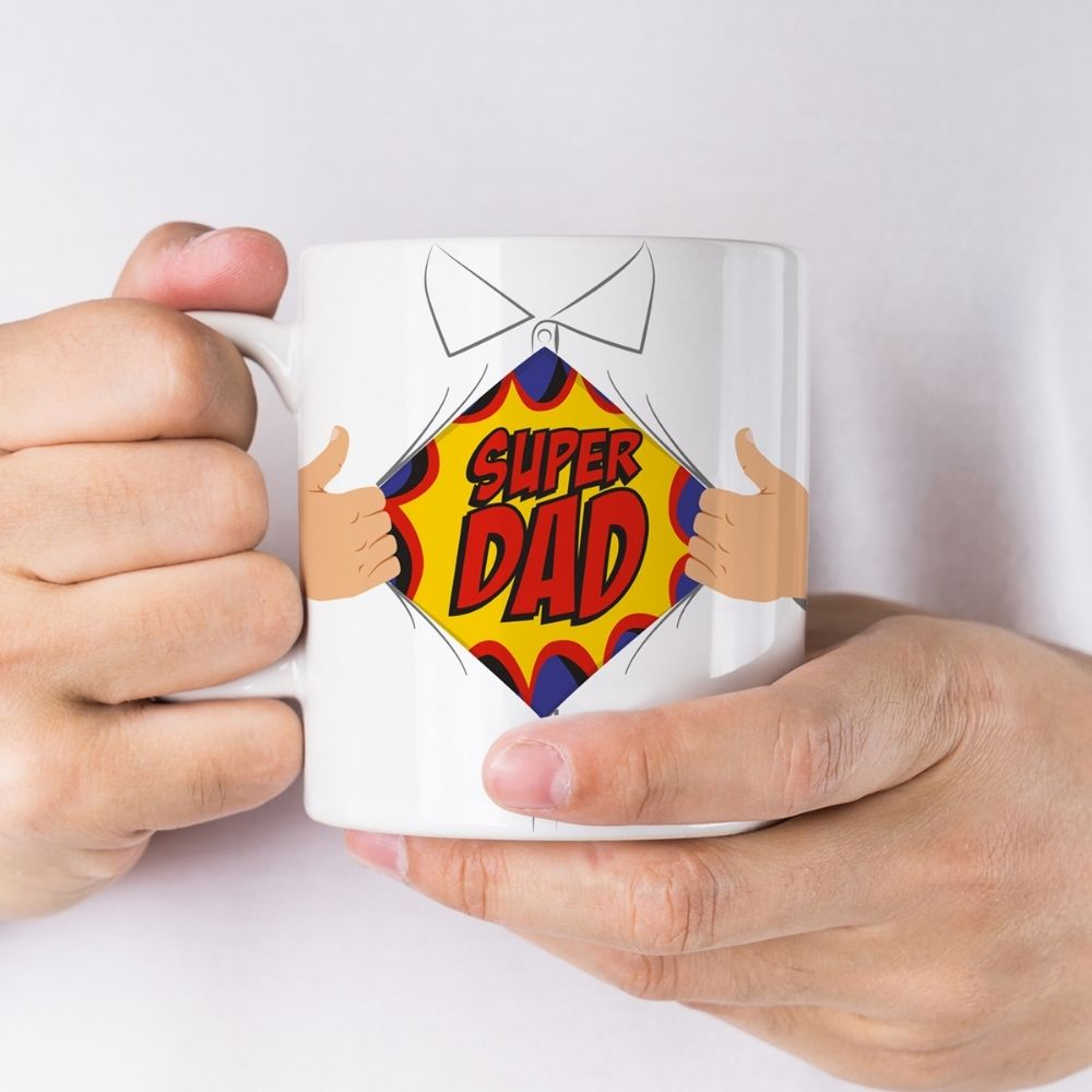 Super Dad Novelty Mug (Heat Reveal)
