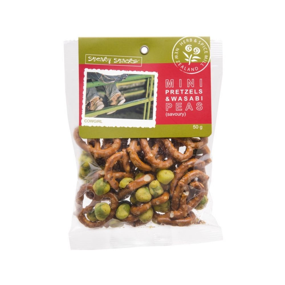 Mini Pretzels & Wasabi Peas Snack Mix