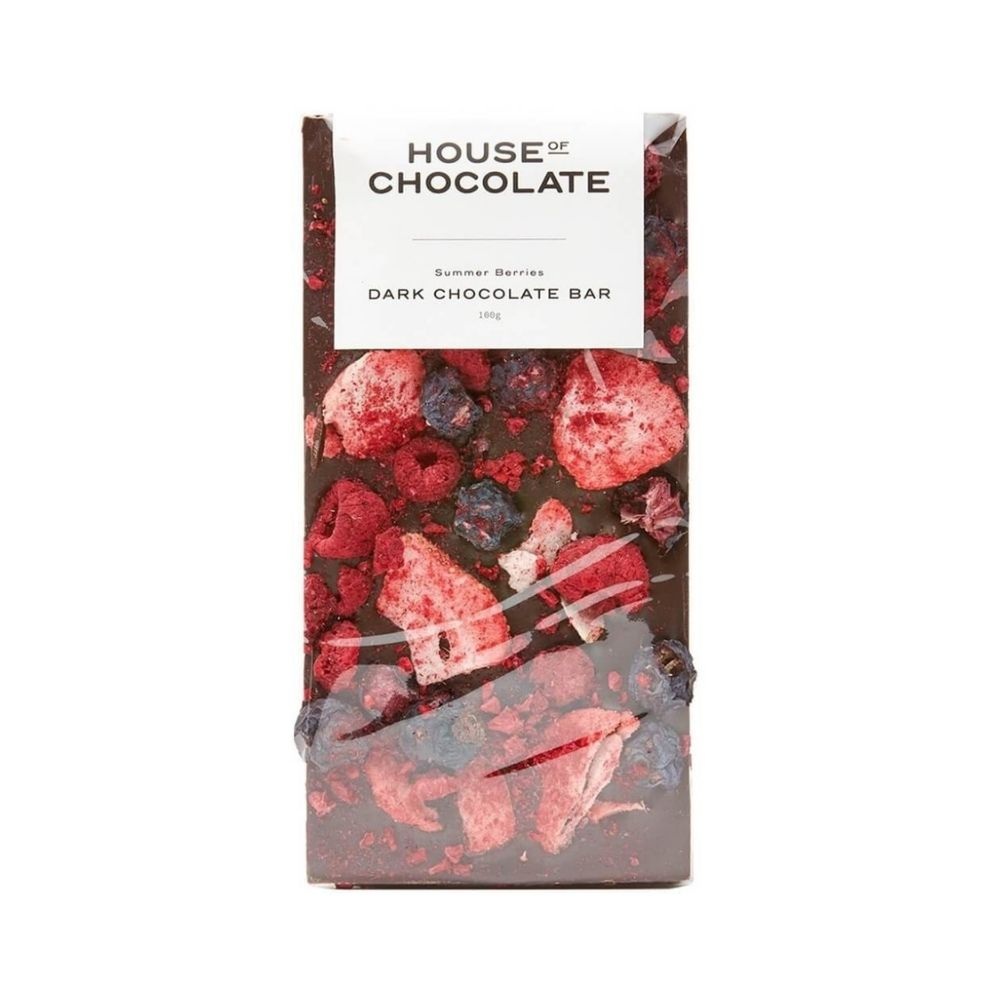 house of chocolate dark choc bar summer berries from funky gifts nz