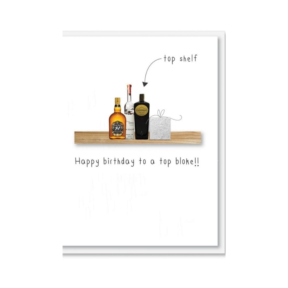 happy Birthday to a top bloke greeting card made in new zealand from Funky Gifts NZ