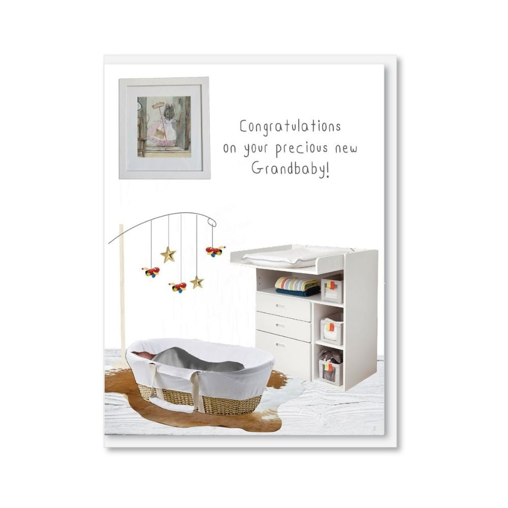 NZ MADE Greeting Card - Congratulations on your Precious New Grandbaby!