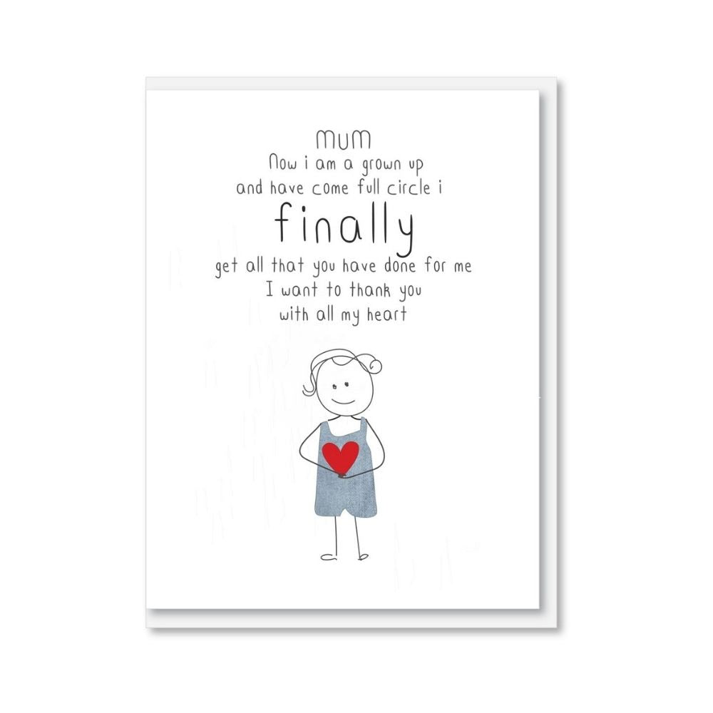 NZ MADE Mother's Day Greeting Card - Full Circle