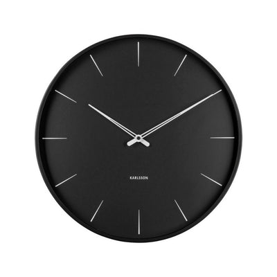 Karlsson Lure Wall Clock Black from funky gifts nz