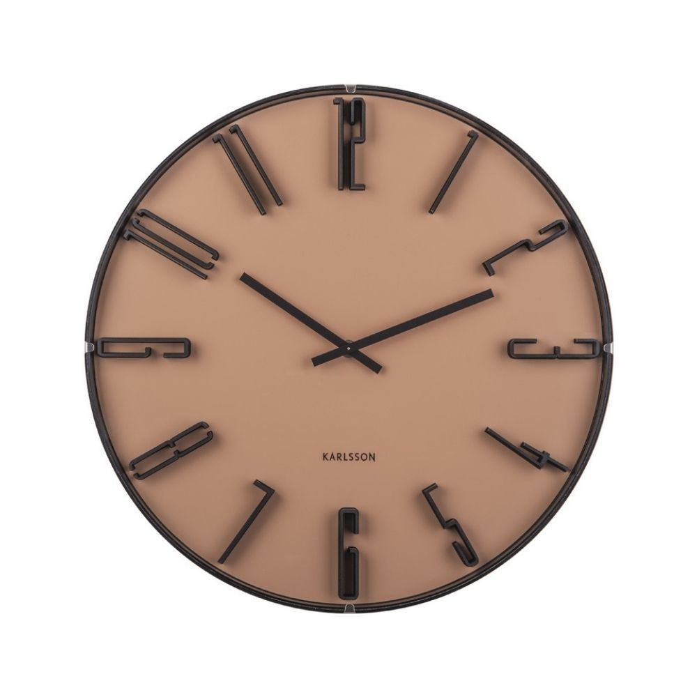 Karlsson Wall Clock Sentient Sand Brown from Funky Gifts NZ