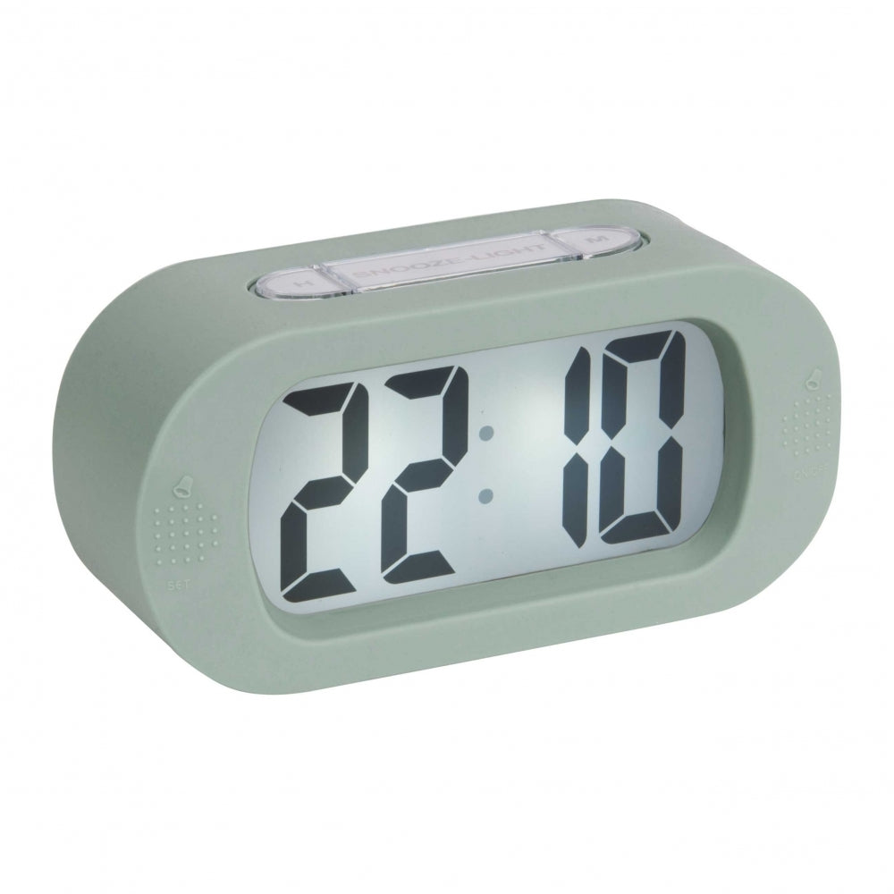 Karlsson Gummy Alarm Clock Green