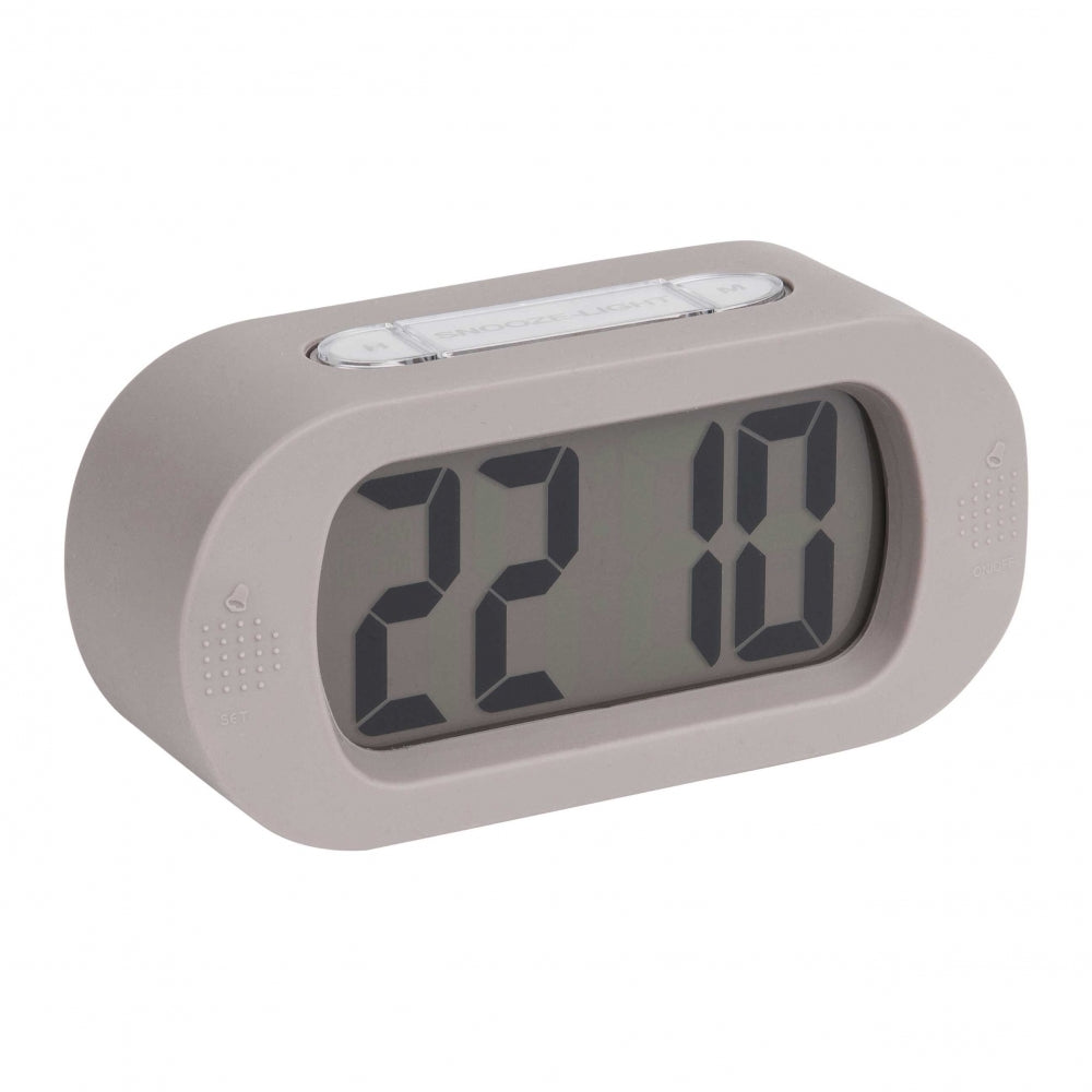 Karlsson Gummy Alarm Clock Grey