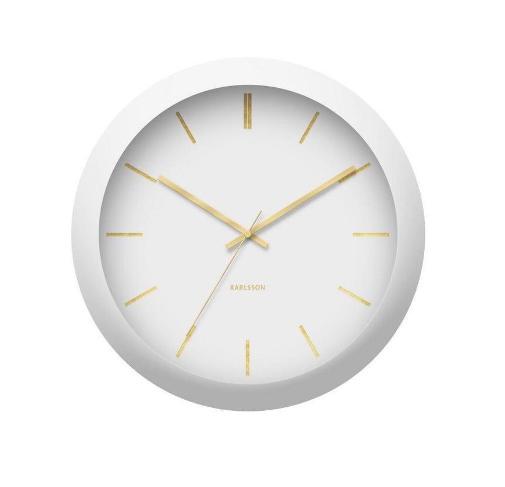 karlsson globe white wall clock
