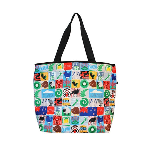 Kiwiana Tiles Cooler Bag