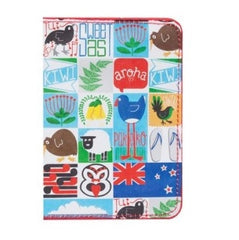 Passport Holder - Kiwiana Tiles