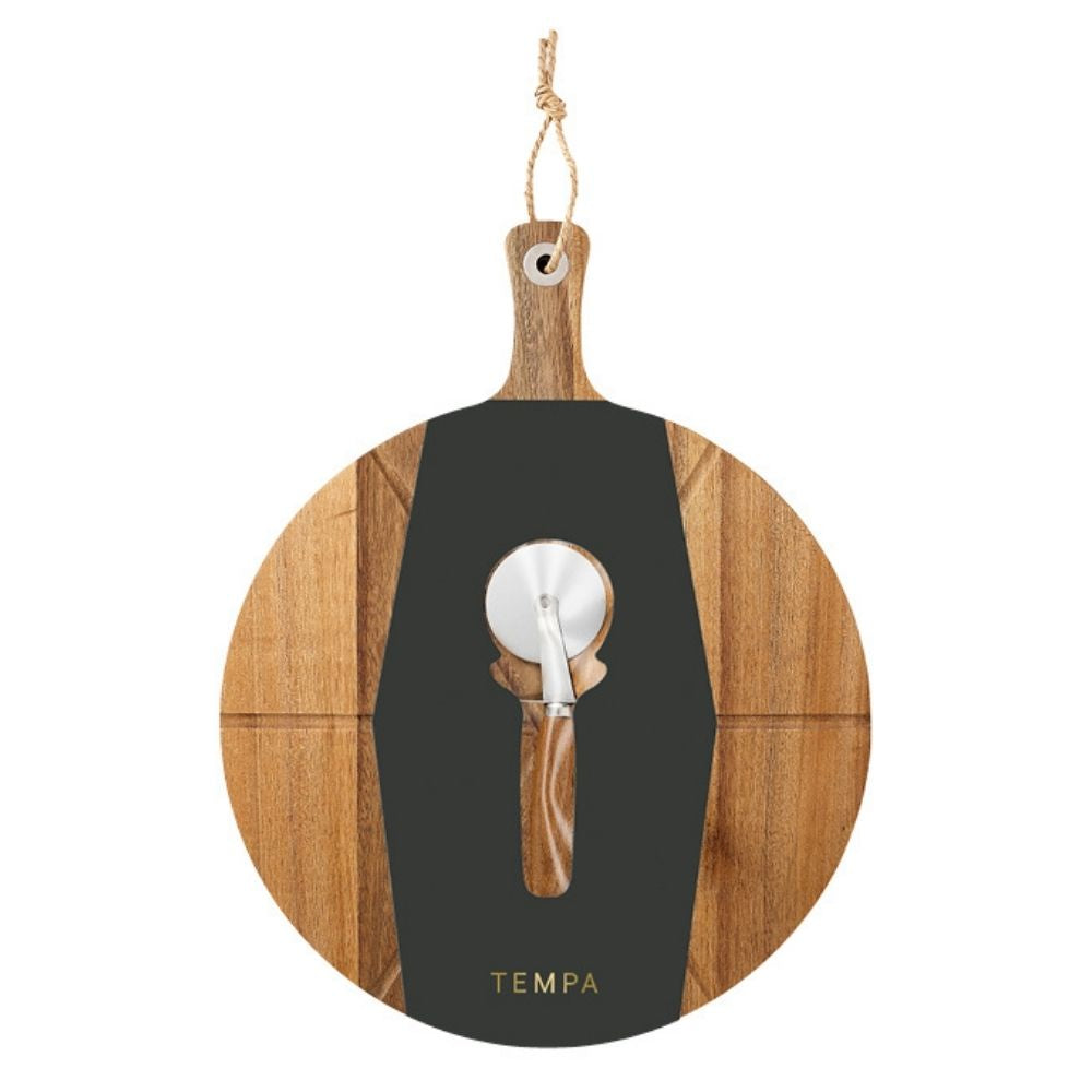 Tempa Fromagerie Pizza Cutter and Board Set