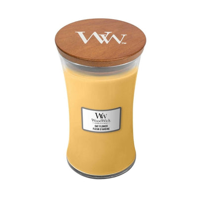 large oat flower scented Woodwick Candle from funky gifts nz