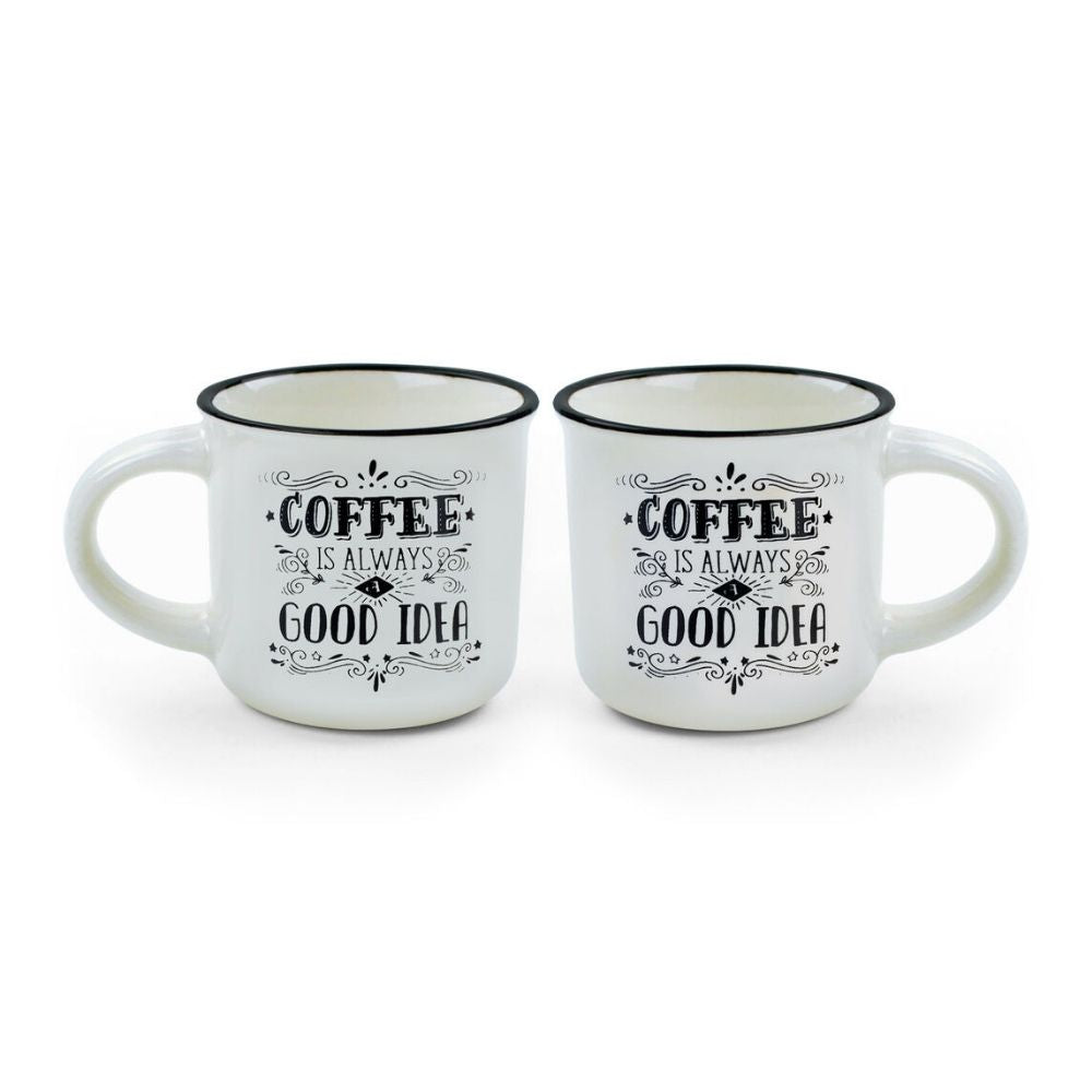 Coffee is always a good idea Espresso for two coffee cups from Funky Gifts NZ