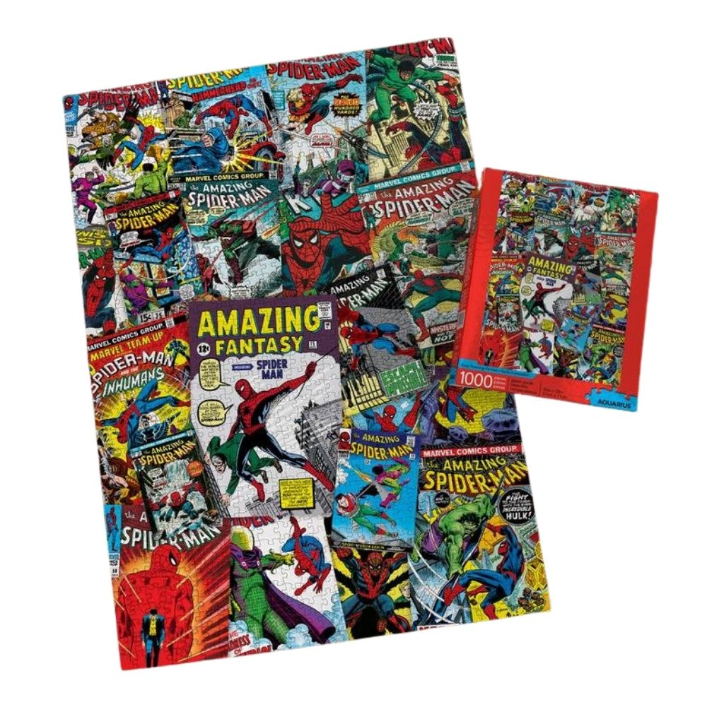 Marvel Comics Spiderman Collage Jigsaw Puzzle from funky gifts nz