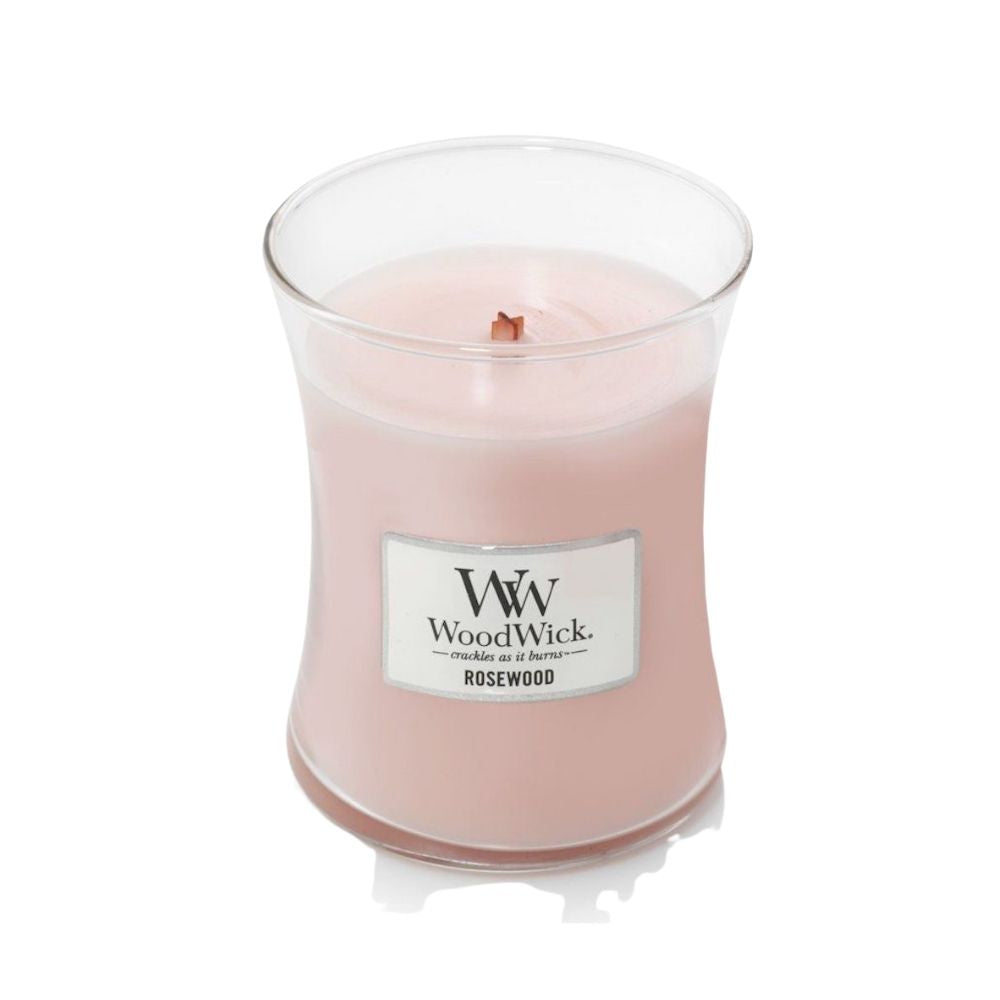 Medium WoodWick Scented Soy Candle - Rosewood