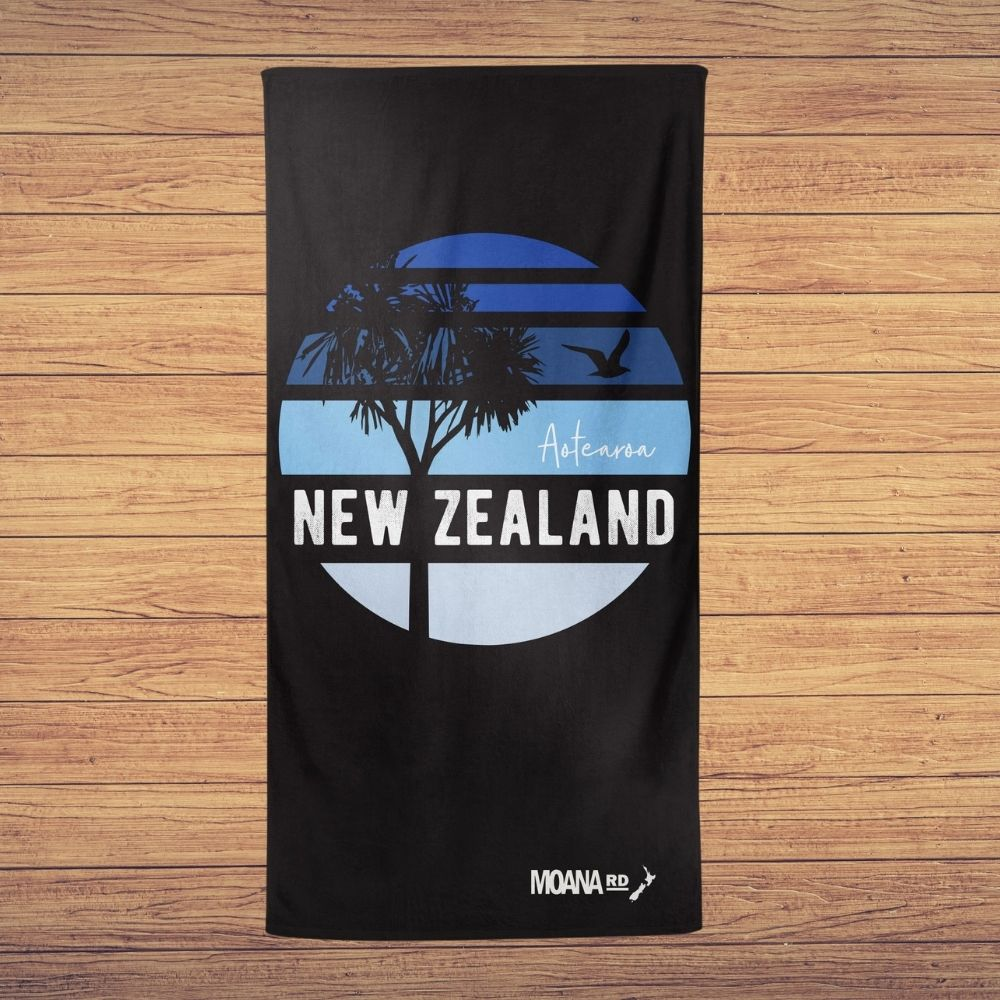 Moana Road Mt Maunganui sky beach towel from funky gifts nz