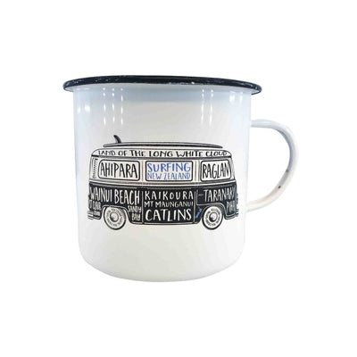 Moana road enamel mug small nz combi surfing from funky gifts nz