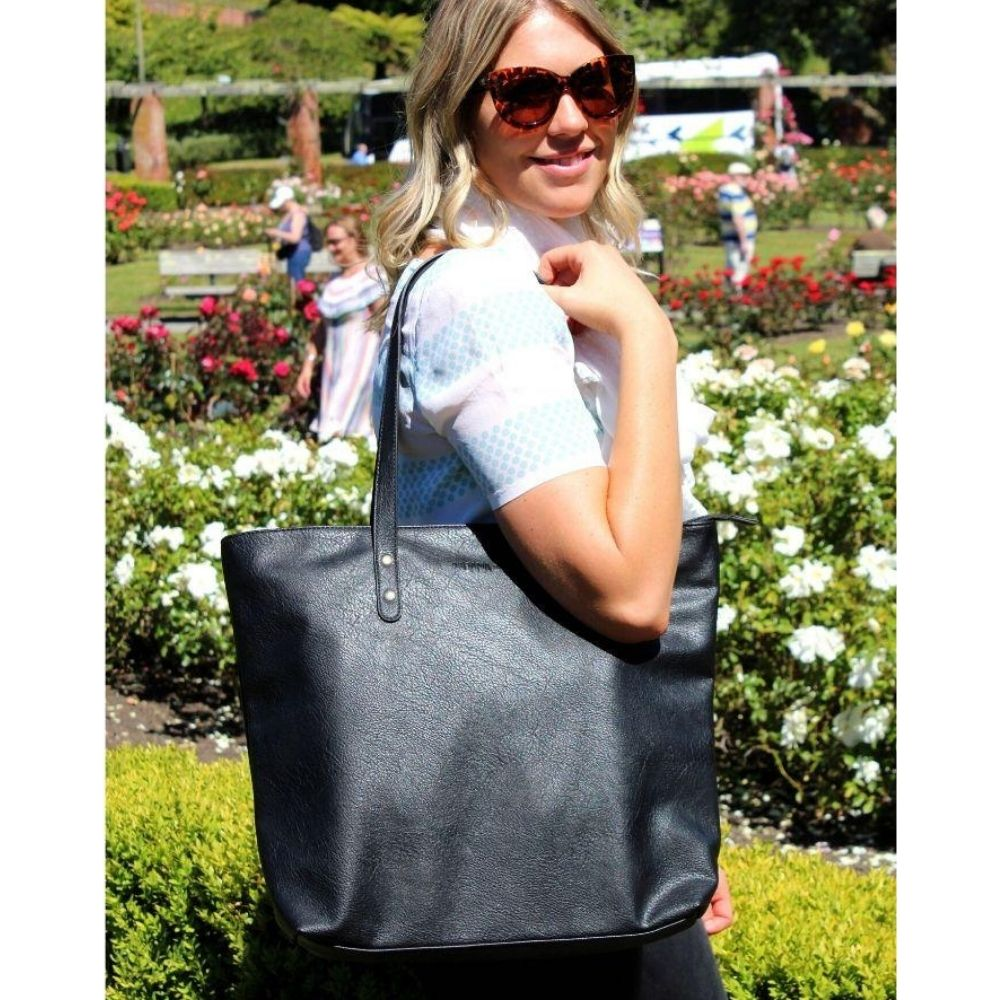 moana road khandallah tote bag black from funky gifts nz
