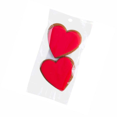 Molly Woppy Gingerbread Red Heart Cookies from funky gifts nz