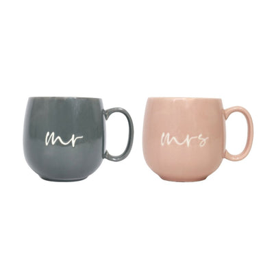 Mr and Mrs Hug Mug Set from funky gifts nz