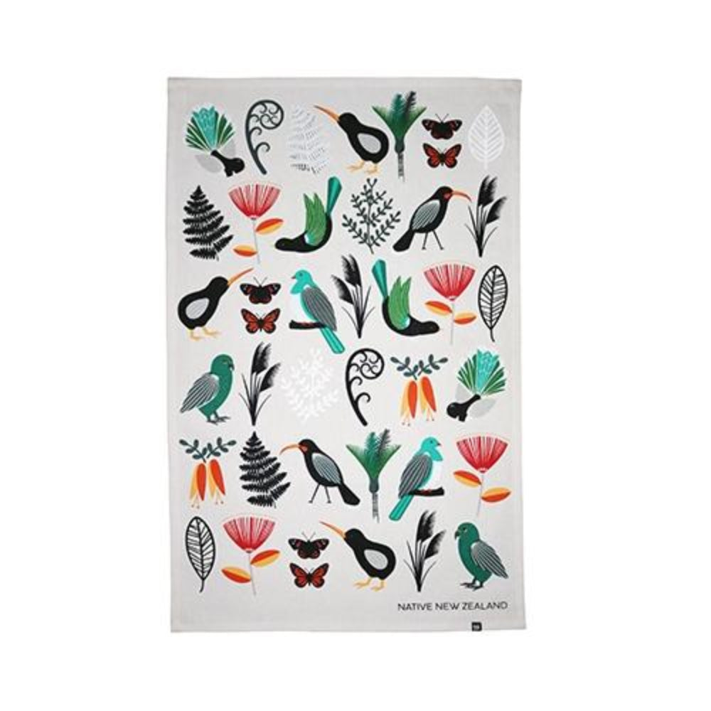 Native NZ Tea Towel