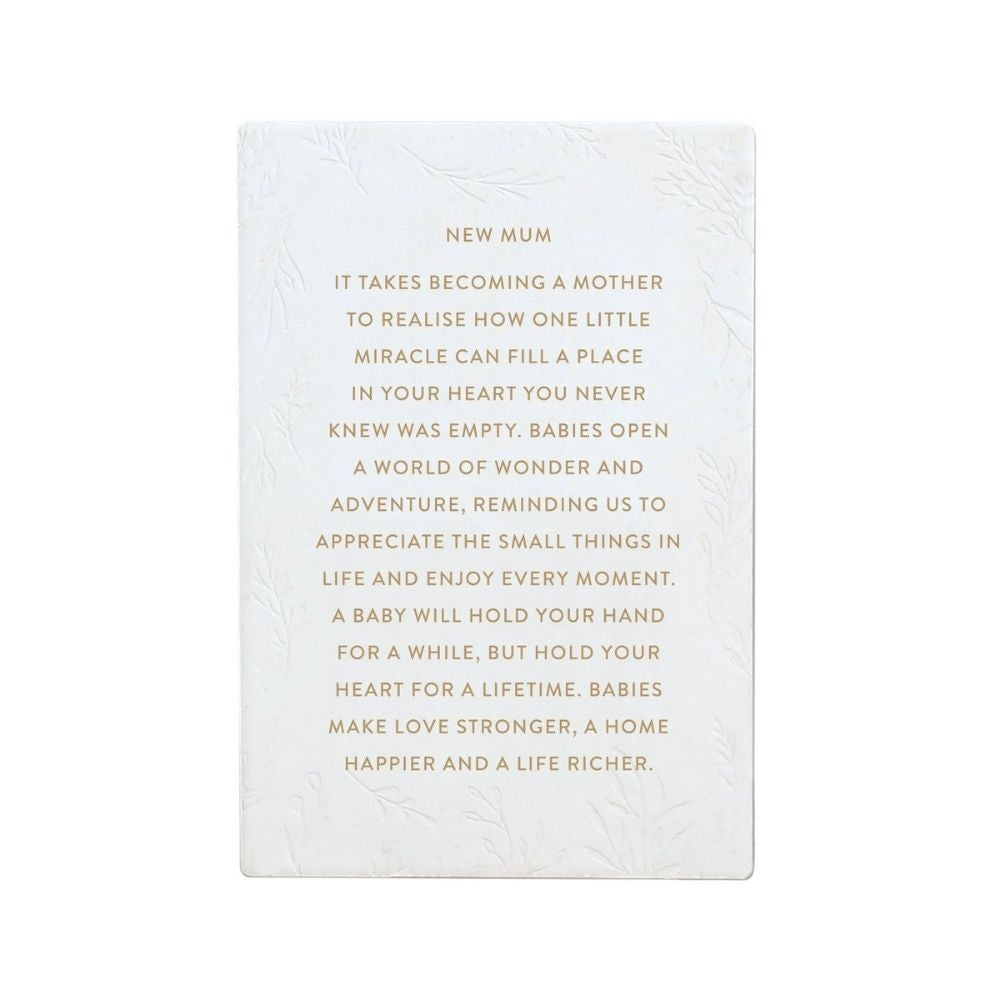 New Mum Ceramic Life Quote Verse from funky gifts nz